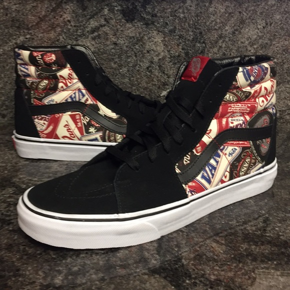 e0cc4132806 Vans SK8-Hi Labels Leather   Canvas Shoes